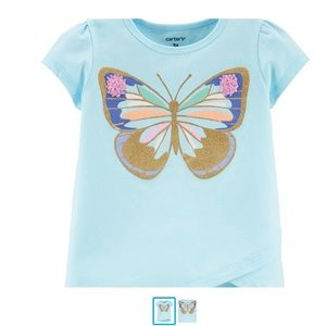 Cute butterfly tee with sparkles